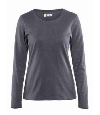 Blaklader Blåkläder 3301 Dames T-shirt met lange mouw Grijs