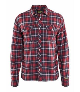 Blaklader Blåkläder 3299-1138 Overhemd Rood/Marineblauw