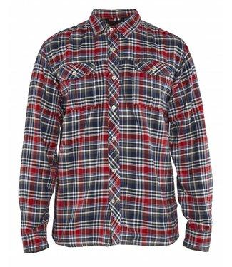 Blaklader Blåkläder 3299-1137 Overhemd Flanel Marineblauw/Rood