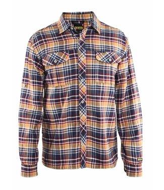 Blaklader Blåkläder 3299-1137 Overhemd Flanel Marineblauw/Oranje