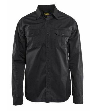 Blaklader Blaklader 3298 Overhemd Twill Zwart