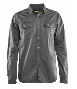 Blaklader Blåkläder 3297 Overhemd Twill Grijs