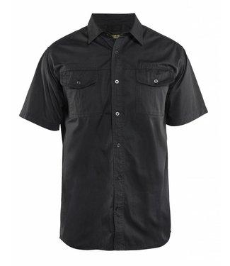 Blaklader Blaklader 3296 Overhemd Twill korte mouw Zwart