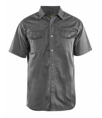 Blaklader Blaklader 3296 Overhemd Twill korte mouw Grijs