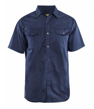 Blaklader Blåkläder 3296 Overhemd Twill korte mouw Marineblauw