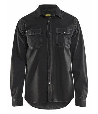 Blaklader Blaklader 3295 Overhemd Denim Zwart