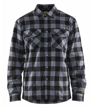 Blaklader Blåkläder 3225 Overhemd Flanel. Gevoerd Donkergrijs/Zwart
