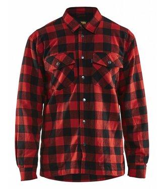 Blaklader Blåkläder 3225 Overhemd Flanel. Gevoerd Rood/Zwart