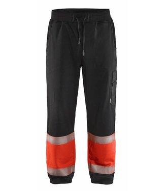 Blaklader Blaklader 1549 Sweatpants High Vis Zwart/Fluor Rood