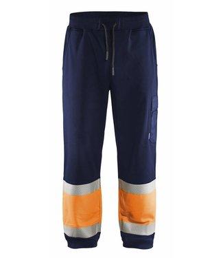 Blaklader Blaklader 1549 Sweatpants High Vis Marineblauw/Oranje