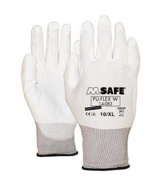 M-Safe M-Safe PU-Flex Werkhandschoenen Wit