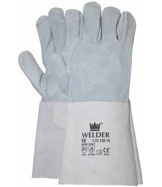 M-Safe Lashandschoen van grijs splitleder