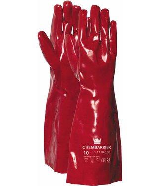 M-Safe Handschoen PVC rood, enkel gedipt, 450 mm