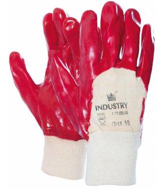 M-Safe Handschoen PVC rood met tricot manchet en ventilerende rugzijde