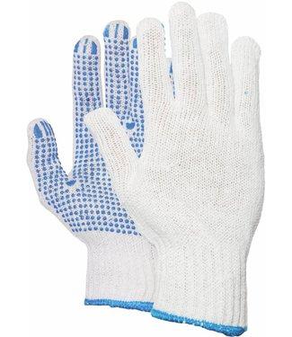 M-Safe Rondgebreide polyester/katoen handschoen met PVC nop