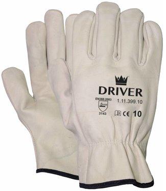 M-Safe Nerflederen crème kleurige officiershandschoen