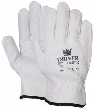 M-Safe Nerflederen naturel kleurige officiershandschoen