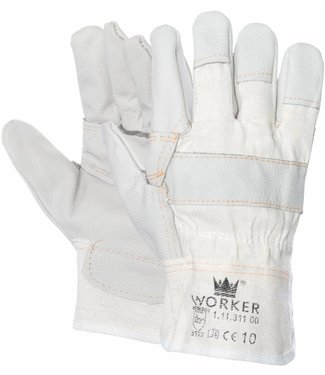 M-Safe Meubellederen handschoen met lichte kleuren