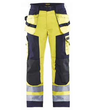 Blaklader Blåkläder 1579 Multinorm Werkbroek Geel/Marineblauw