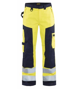 Blaklader Blåkläder 1578 Multinorm werkbroek Geel/Marineblauw