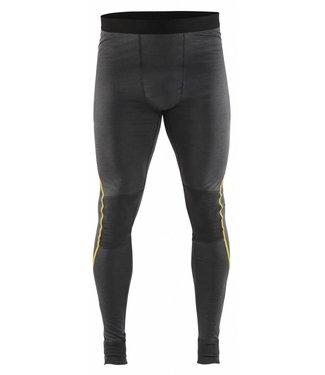 Blaklader Blåkläder 1844 Lange onderbroek XLIGHT, 100% Merino Donkergrijs/Geel
