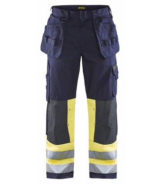 Blaklader Blaklader 1479 Multinorm Werkbroek Marineblauw/Geel