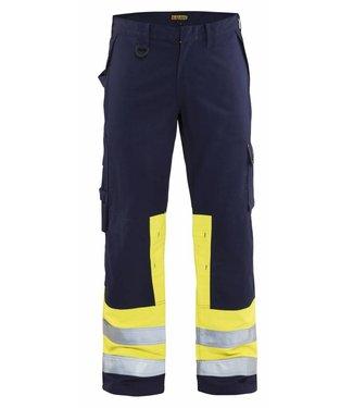 Blaklader Blaklader 1478 Multinorm werkbroek Marineblauw/Geel