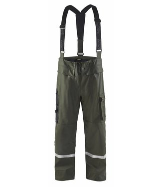 Blaklader Blaklader 1302 Regenbroek High Vis LEVEL 2 Army Groen