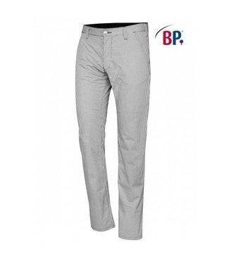 BP BP® Chinobroek voor heren 1735-930-33 zwart-wit pepita