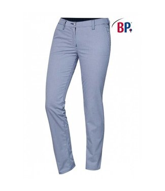 BP BP® Chinobroek voor dames 1734-930-19 blauw-wit pepita