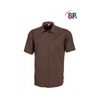 BP BP® Herenoverhemd 1/2 mouw 1564-682-43 chocoladebruin