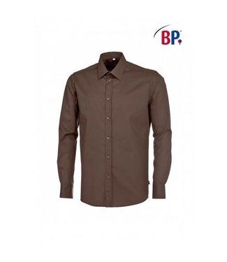 BP BP® Herenoverhemd 1563-682-43 chocoladebruin