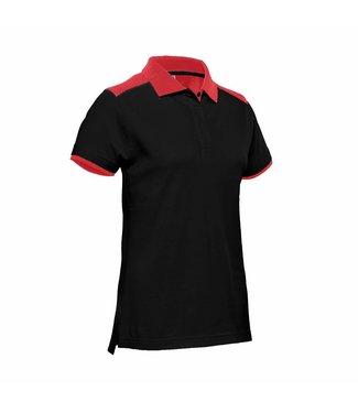 Santino SANTINO Dames Poloshirt Tivoli Black / Red