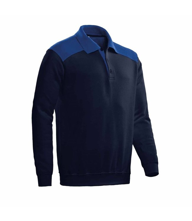 Santino SANTINO Polosweater Tesla Real Navy / Royal Blue