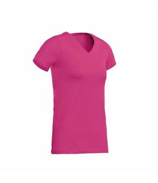 Santino SANTINO T-shirt Jazz ladies V-neck Fuchsia