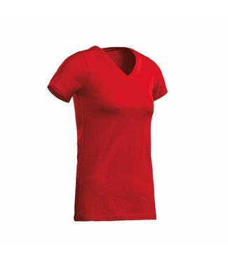 Santino SANTINO T-shirt Jazz ladies V-neck Red