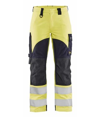 Blaklader Blaklader 71891512 Multinorm Dames Werkbroek Inherent High Vis Geel/Marineblauw