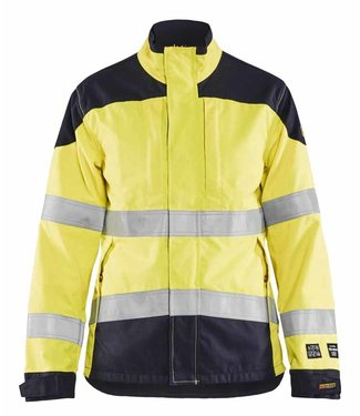 Blaklader Blaklader 49691512 Multinorm Damesjack Inherent High Vis Geel/Marineblauw