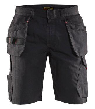 Blaklader Blaklader 14941330 Service short met spijkerzakken Zwart/Rood
