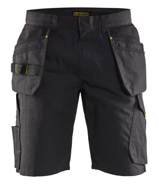 Blaklader Blaklader 14941330 Service short met spijkerzakken Zwart/Geel