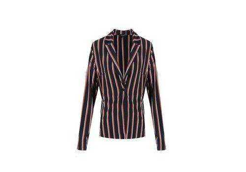 G-maxx Striped Blazer Roze