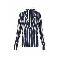 Striped Blazer Donkerblauw