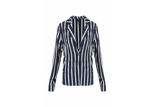 G-maxx Striped Blazer Donkerblauw