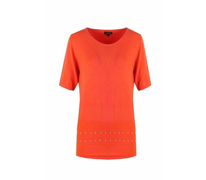 Pullover Orange red