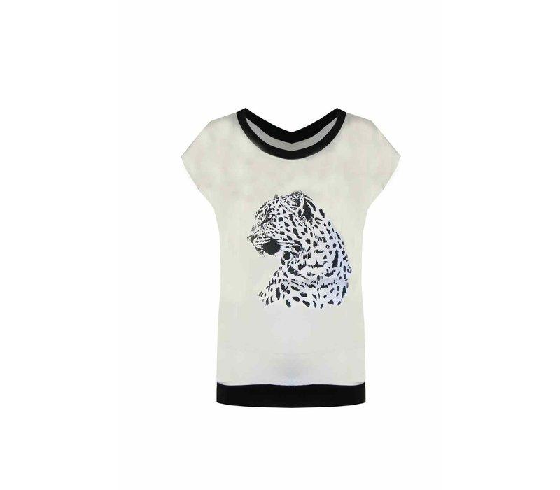 Cheetah T-shirt Wit