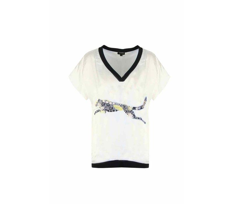 Panter T-shirt Wit