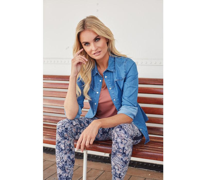 Leah Top Blauw
