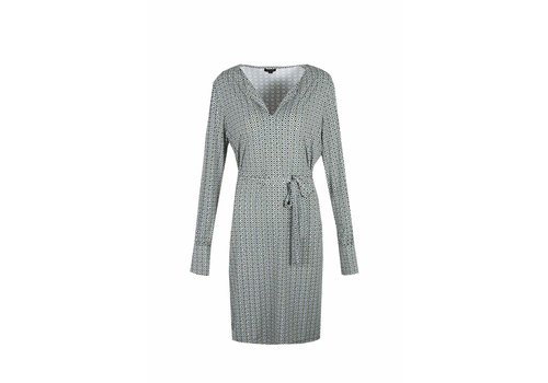 G-maxx Antoinette Dress Vergrijsd Groen/Zand