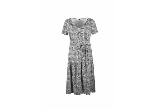 G-maxx Annika Dress Zand/Gebroken Wit/Zwart