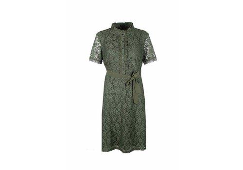 G-maxx Bindi Dress Gewassen groen
